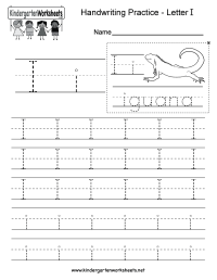 Letter I Writing Practice Worksheet - Free Kindergarten ...