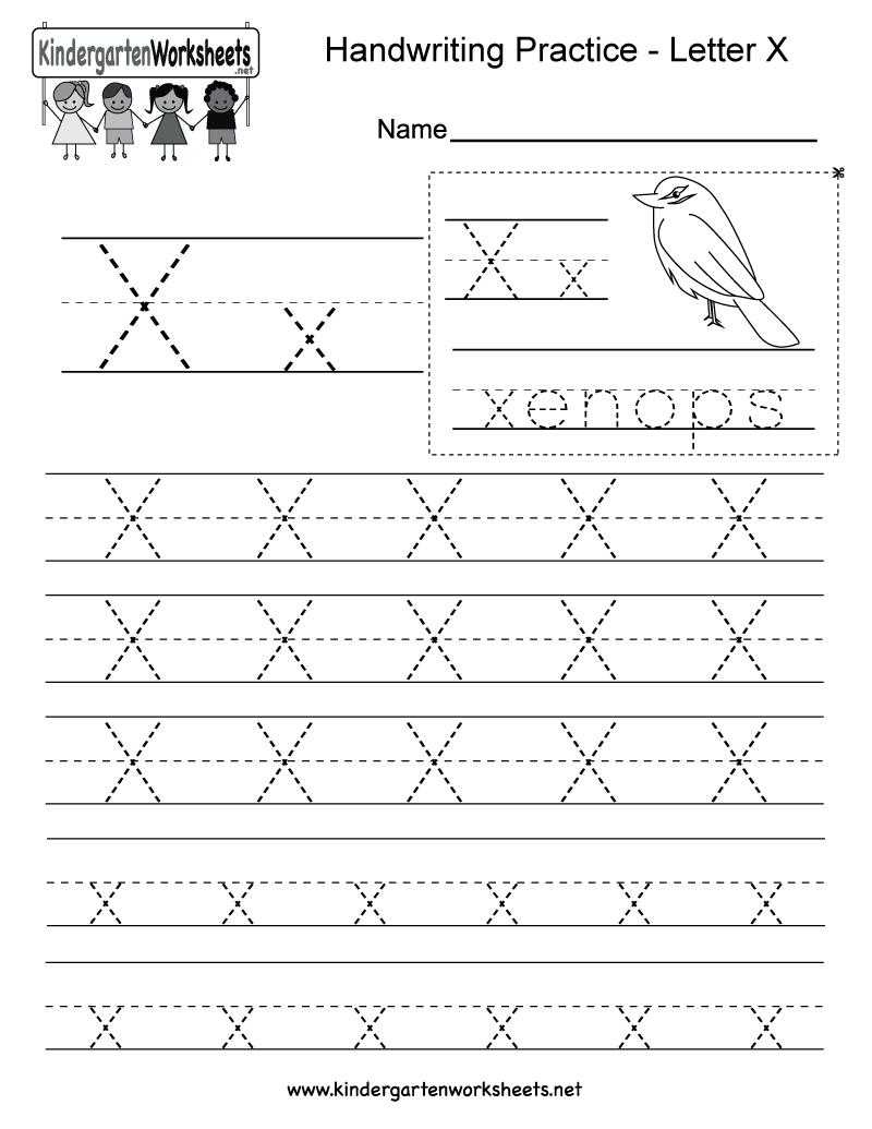 medium resolution of Letter X Writing Practice Worksheet - Free Kindergarten English Worksheet  for Kids