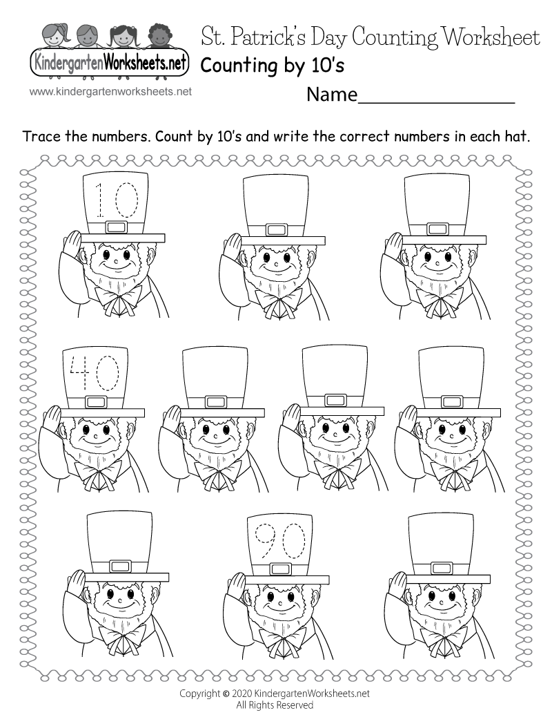 Saint Patrick S Day Counting Worksheet