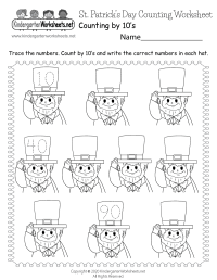 Saint Patrick's Day Counting Worksheet - Free Kindergarten ...