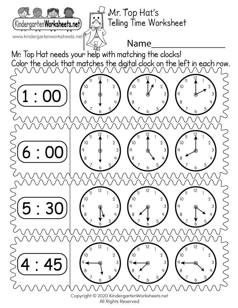 hight resolution of Matching Digital and Analog Clocks Worksheet - Free Printable