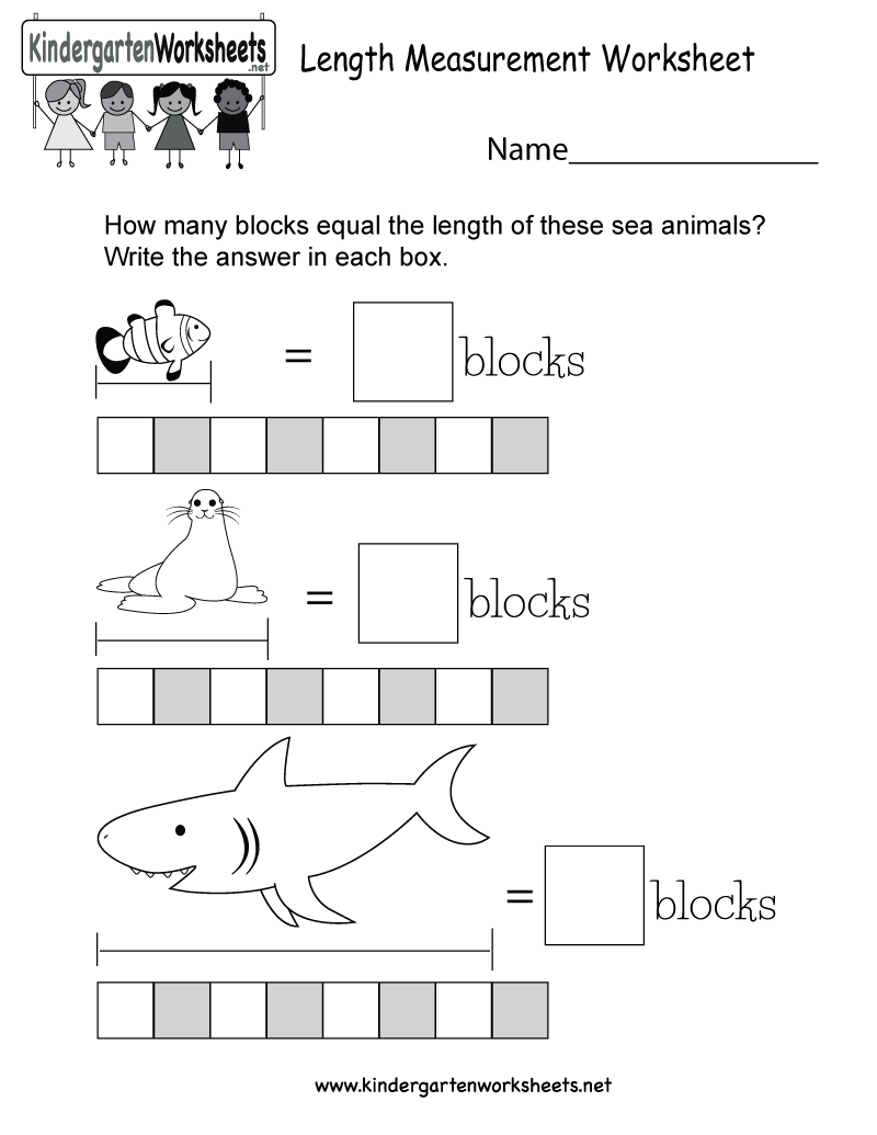 Length Worksheets Kindergarten