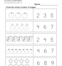 Math Numbers Worksheet for Kids - Free Kindergarten Math Worksheet for Kids [ 1035 x 800 Pixel ]