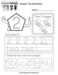 Number Two Worksheet - Free Kindergarten Math Worksheet ...