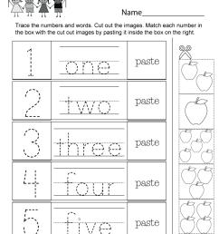 Numbers Worksheet - Free Kindergarten Math Worksheet for Kids [ 1035 x 800 Pixel ]