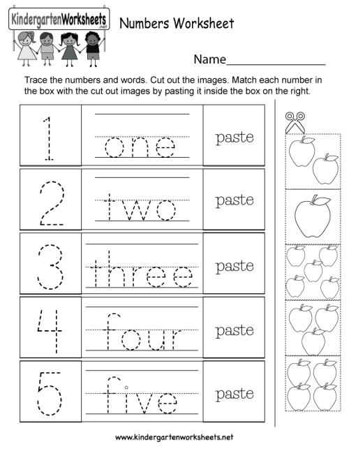 small resolution of Numbers Worksheet - Free Kindergarten Math Worksheet for Kids