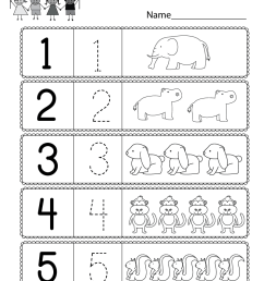 Preschool Worksheet Using Numbers - Free Kindergarten Math Worksheet for  Kids [ 1035 x 800 Pixel ]