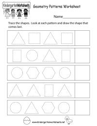Geometry Patterns Worksheet - Free Kindergarten Math ...