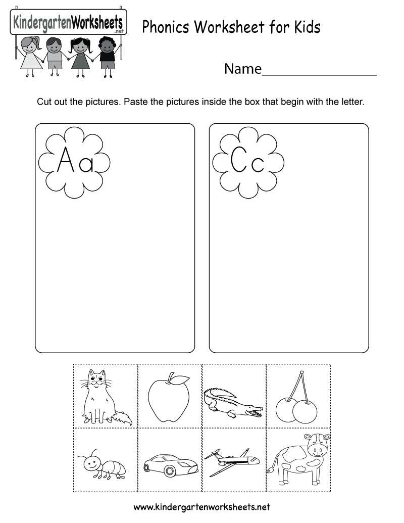 Phonics Worksheet For Kids Free Kindergarten English Worksheet For Kids  Dubai Khalifa
