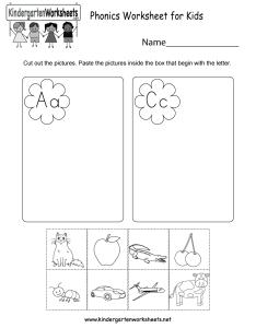 Kindergarten phonics worksheet for kids printable also free english rh kindergartenworksheets