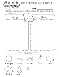 Kids Science Worksheet - Free Kindergarten Learning ...