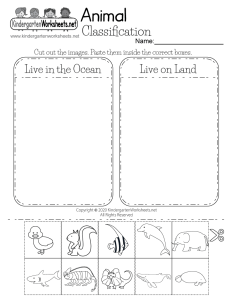 Free printable life science animal worksheet also for kindergarten rh kindergartenworksheets