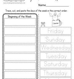 Days of the Week Worksheet - Free Printable [ 1035 x 800 Pixel ]