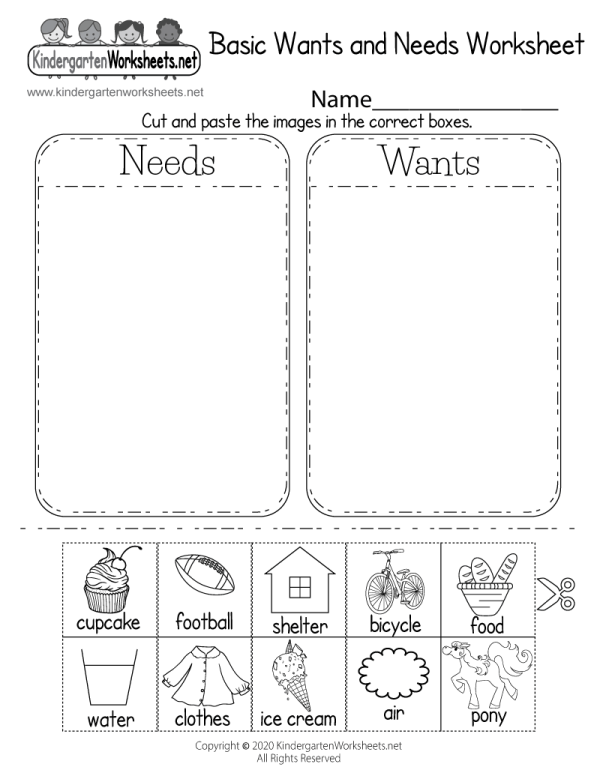 Identifying Basic And Worksheet - Free Kindergarten Learning Kids