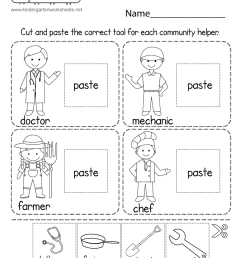 Learning About Different Careers Worksheet - Free Printable [ 1035 x 800 Pixel ]