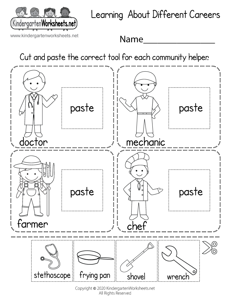 medium resolution of Learning About Different Careers Worksheet - Free Printable