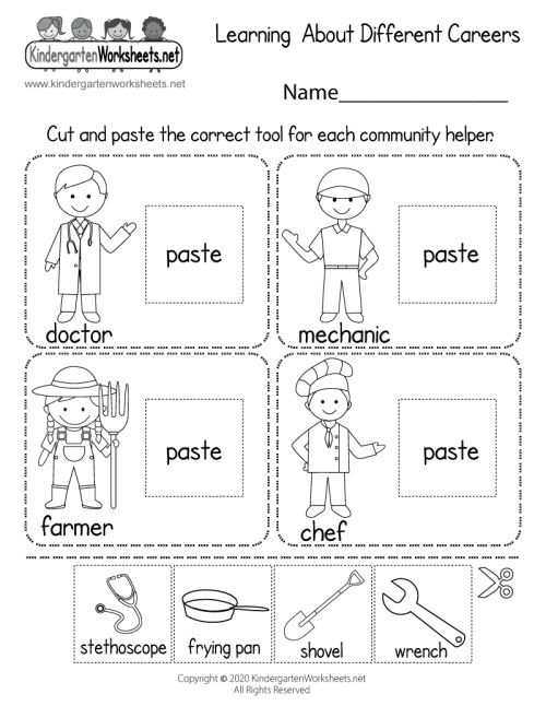 small resolution of Learning About Different Careers Worksheet - Free Printable