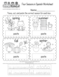 Spanish Worksheet - Free Kindergarten Learning Worksheet ...