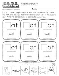 Free kindergarten spelling worksheet also english rh kindergartenworksheets