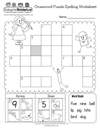 Printable Spelling Worksheet - Free Kindergarten English ...