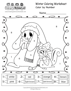 Free winter coloring worksheet also kindergarten seasonal for rh kindergartenworksheets