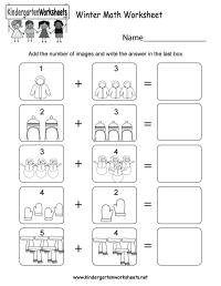 Winter Math Worksheet - Free Kindergarten Seasonal ...