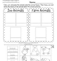 animal worksheet: April 2015 [ 1035 x 800 Pixel ]