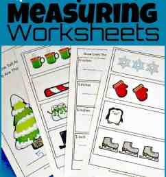 FREE Winter Ruler Measurements Worksheets [ 1608 x 1024 Pixel ]