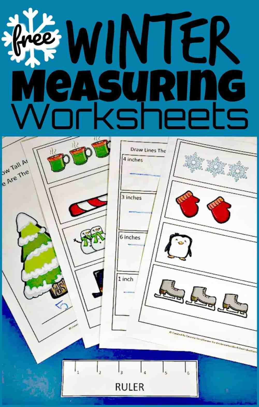 medium resolution of FREE Winter Ruler Measurements Worksheets