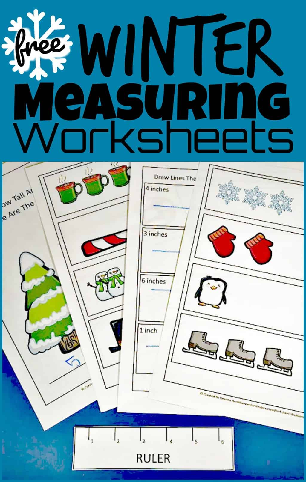 hight resolution of FREE Winter Ruler Measurements Worksheets
