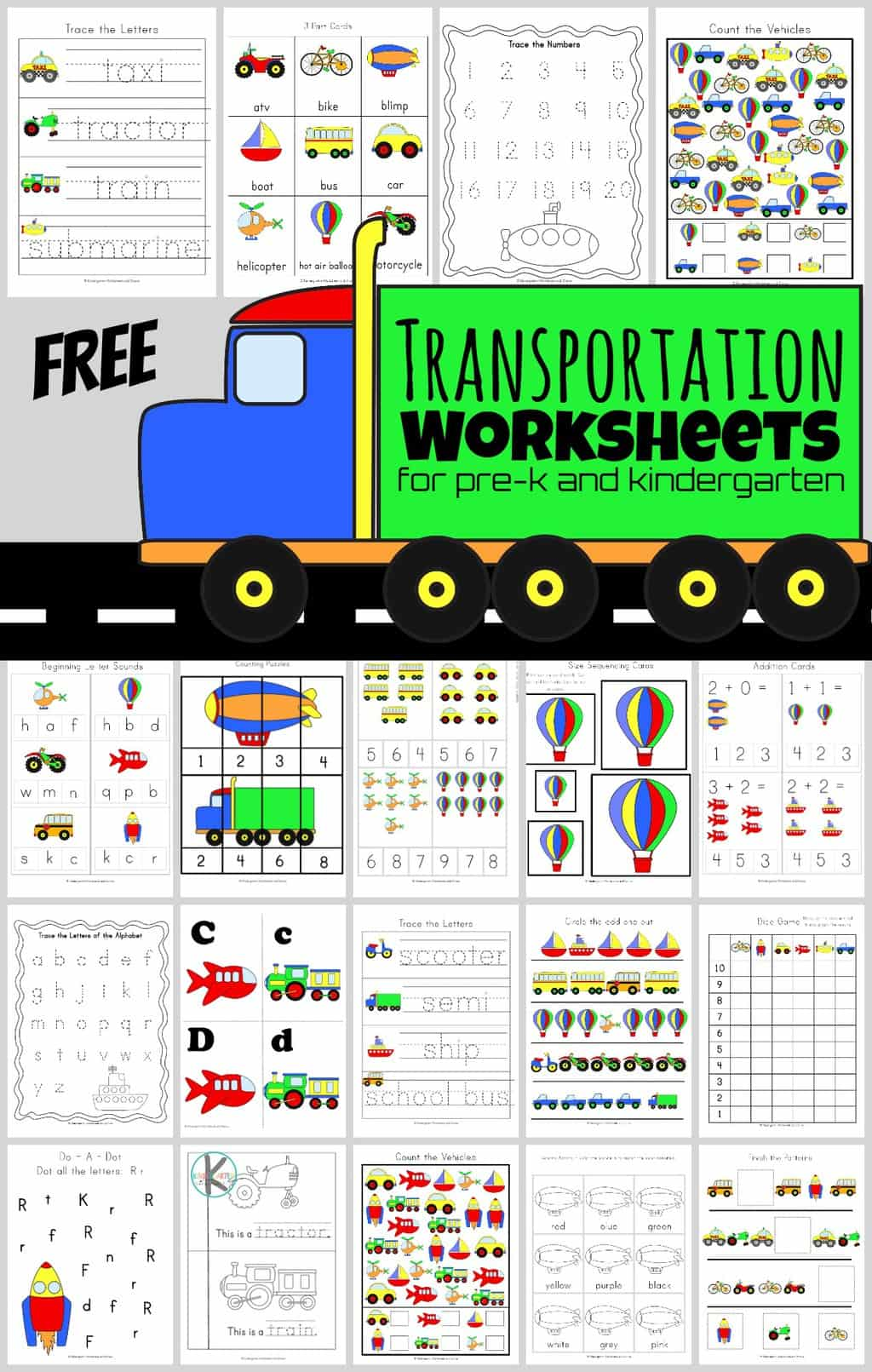 Free Transportation Worksheets Huge Pack