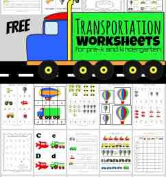 FREE Transportation Worksheets (HUGE Pack!) [ 1611 x 1024 Pixel ]