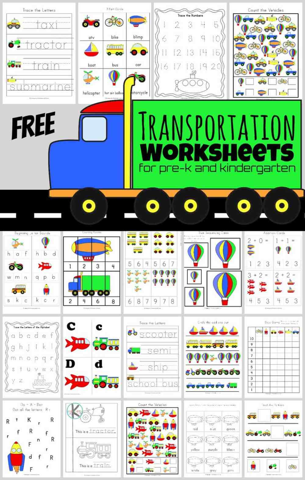 medium resolution of FREE Transportation Worksheets (HUGE Pack!)