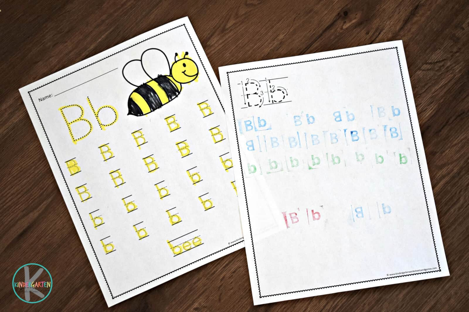 Free A To Z Letter Practice Kindergarten Worksheets And