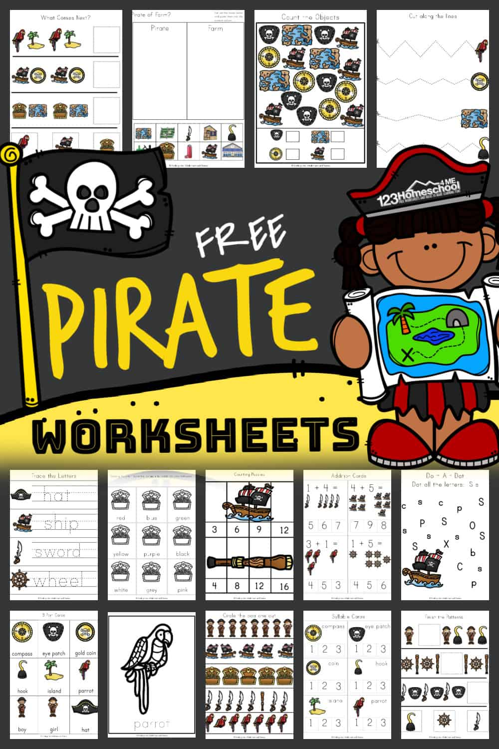 medium resolution of FREE Printable PIRATE Worksheets