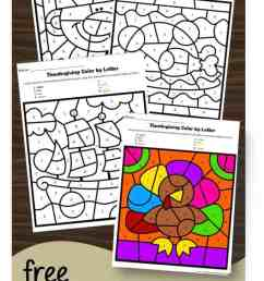 FREE Thanksgiving Color by Number [ 1277 x 693 Pixel ]