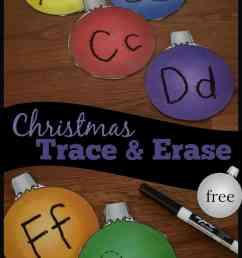 FREE Christmas Letter Tracing Printables - Alphabet Ornaments Trace \u0026 Erase [ 1600 x 1008 Pixel ]