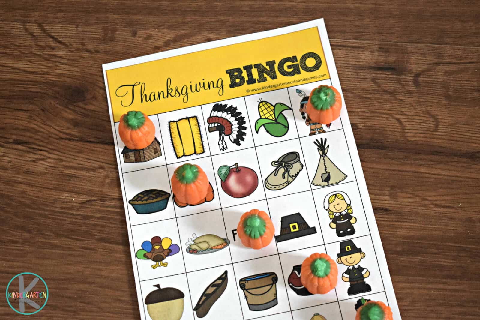 Free Thanksgiving Bingo Kindergarten Worksheets And Games