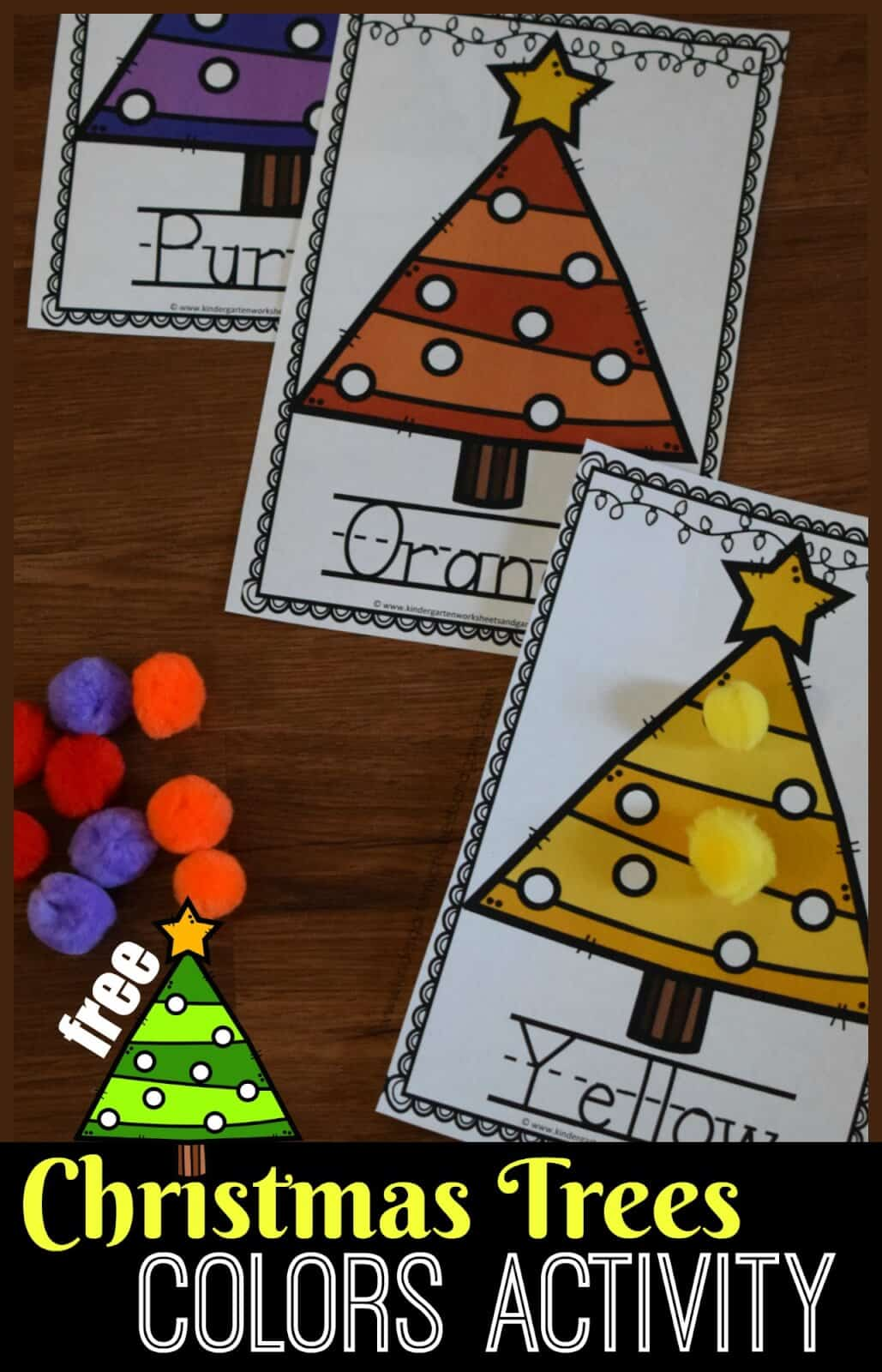 hight resolution of FREE Christmas Trees Color Matching Printables