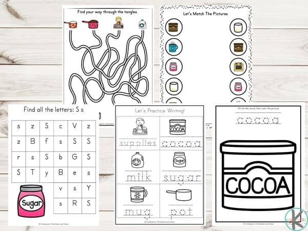 FREE How to Make Hot Chocolate Sequencing Worksheets with