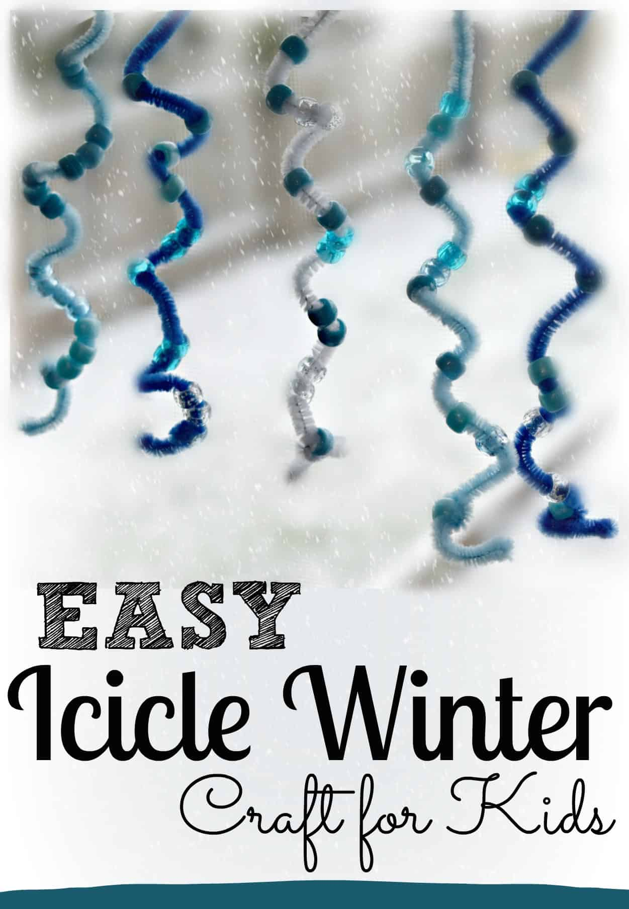 Easy Icicle Winter Craft
