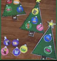 Word Family Christmas Trees [ 1600 x 988 Pixel ]