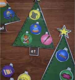 Word Family Christmas Trees [ 1152 x 769 Pixel ]