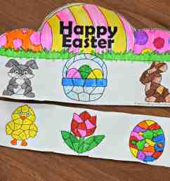 FREE Easter Color by Number Craft Activity for Kids [ 2564 x 3598 Pixel ]