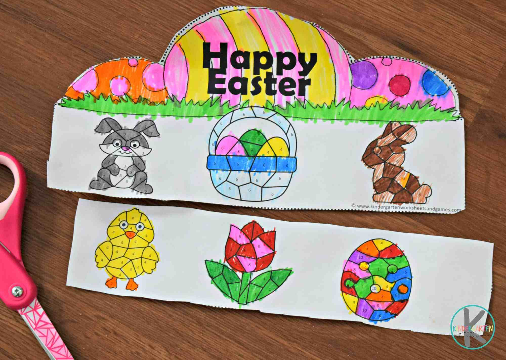 hight resolution of FREE Easter Color by Number Craft Activity for Kids