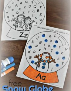 Free snow globe letter find worksheets preschool kindergaten also  kindergarten and games rh kindergartenworksheetsandgames