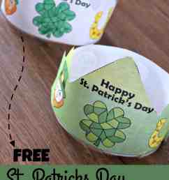 FREE Printable St Patricks Day Color by Number Printable Hats [ 2000 x 1189 Pixel ]