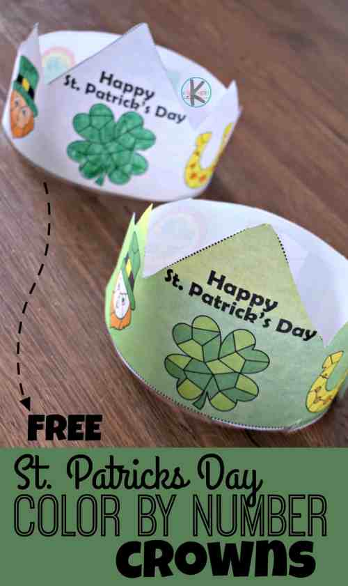 small resolution of FREE Printable St Patricks Day Color by Number Printable Hats