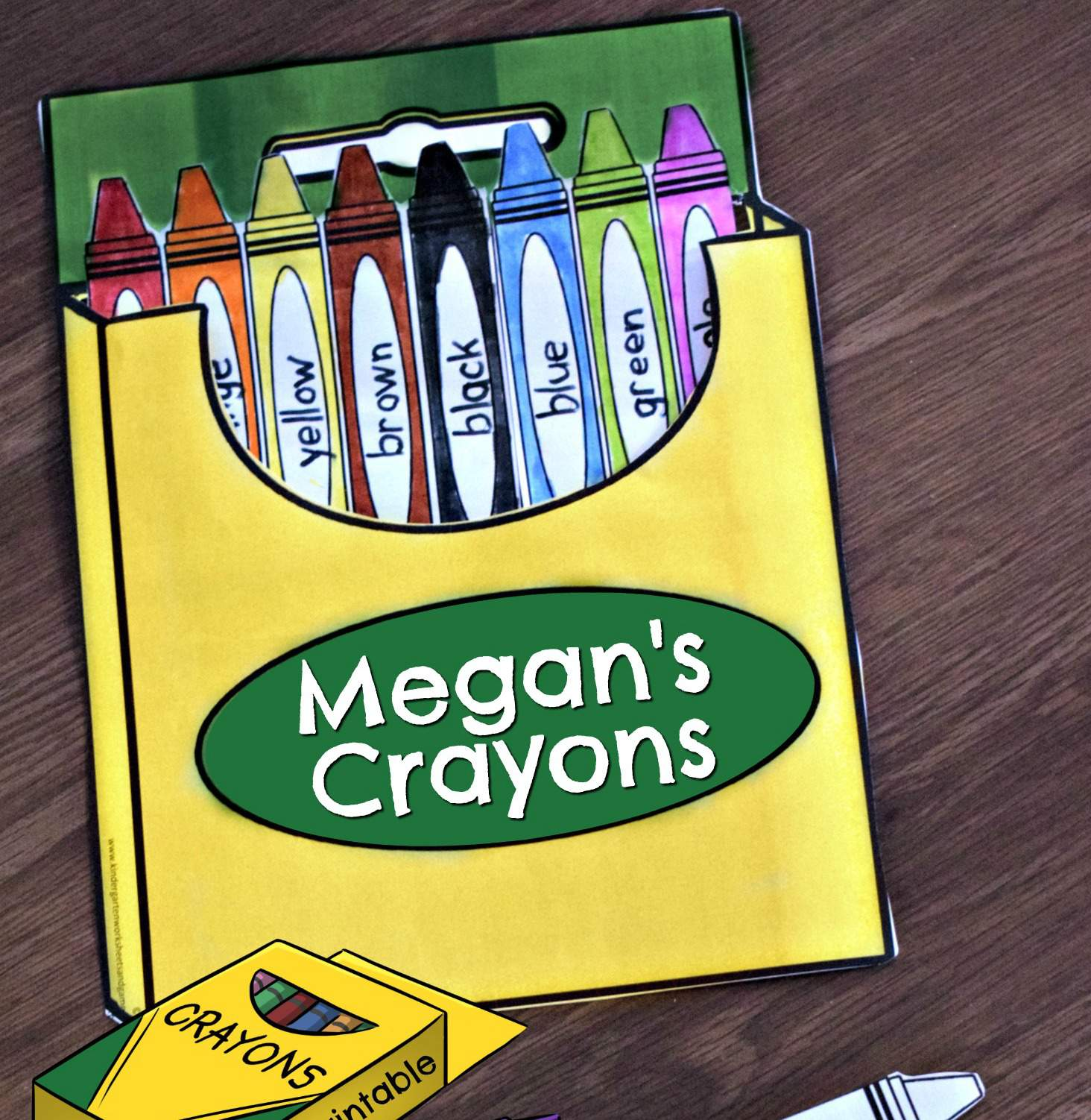 Crayon Colors Math Craft Kindergarten Worksheets And Games