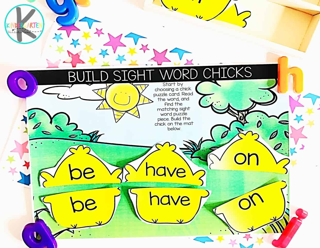 Free Sight Word Easter Chicks Kindergarten Worksheets